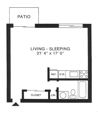 Beau Floorplan: Studio